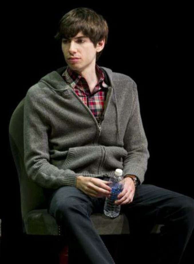 "In this Oct. 1, 2012 file photo, Tumblr founder David Karp participates in the ""Bloomberg Leadership Summit"" seminar in New York. In a deal announced Monday, May 20, 2013, Yahoo is buying New York-based Tumblr, the online blogging forum, for $1.1 billion. About $275 million will go to Karp, 26, who dropped out of high school to concentrate on computer programming and started Tumblr six years ago. (AP Photo/Charles Sykes/Invision for Advertising Week) Photo: AP / Charles Sykes/Invision"