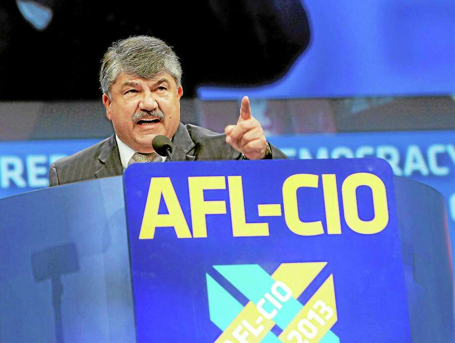 Richard Trumka, American Federation of Labor and Congress of Industrial Organizations president, addresses members during the quadrennial AFL-CIO convention at Los Angeles Convention Center on Monday, Sept 9, 2013 in Los Angeles. Photo: Nick Ut — The Associated Press  / AP2013