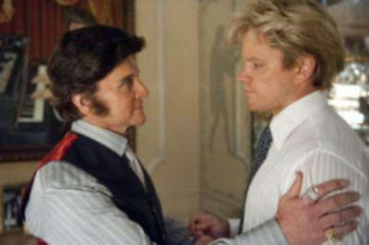 BEHIND THE CANDELABRA: Michael Douglas, Matt Damon. )