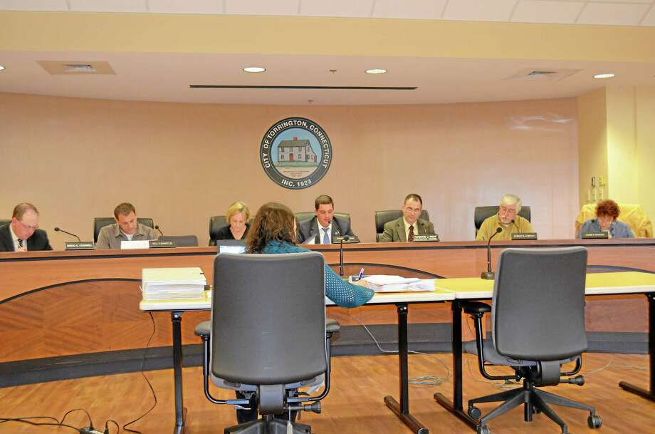 The Torrington City Council and Mayor Ryan Bingham discuss the city's proposed budget for 2013/2014 during a special meeting on April 29, 2013. Photo: File Photo — Register Citizen