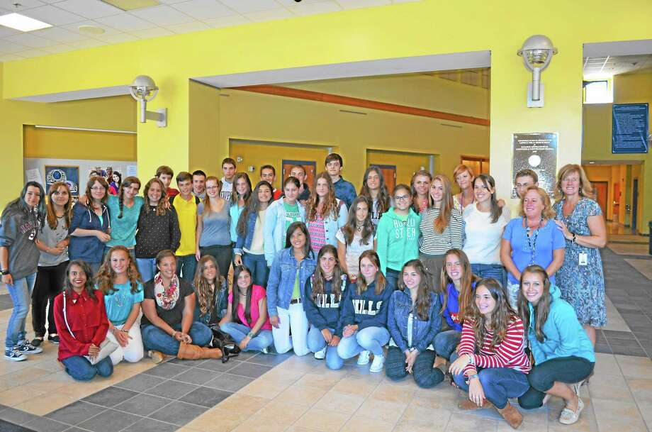Spanish exchange students have been living with their host families and going to school at Lewis Mills High School for the last three weeks. Photo: Kate Hartman — Register Citizens.