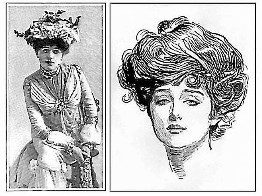 Submitted photo - FVHS Jobyna Howland Stringer, left; Charles Dana Gibson illustration, right. Photo: Journal Register Co.