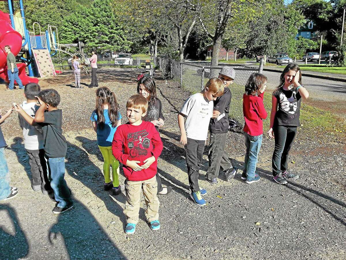 CHAMPS students play game during Tuesday's after-school programming.
