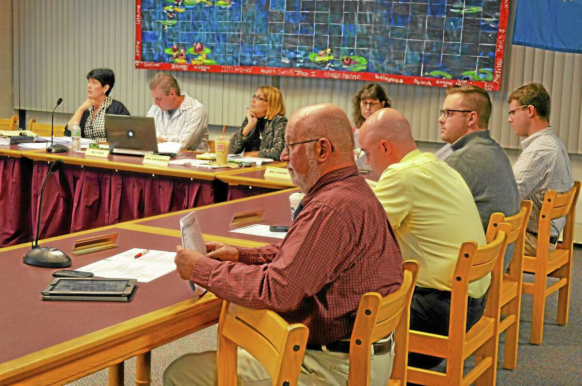 Torrington board of education listens to proposals for new administrative positions for the district.Jessica Glenza - Register Citizen