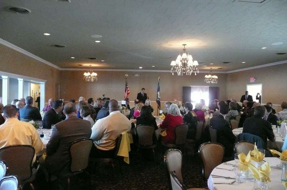 KATE HARTMAN/Register Citizen Governor Dannel Malloy had breakfast with the Northwest Connecticut Chamber of Commerce Thursday morning.