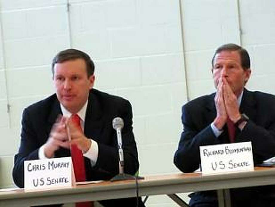 HUGH MCQUAID PHOTO U.S. Sens. Chris Murphy and Richard Blumenthal