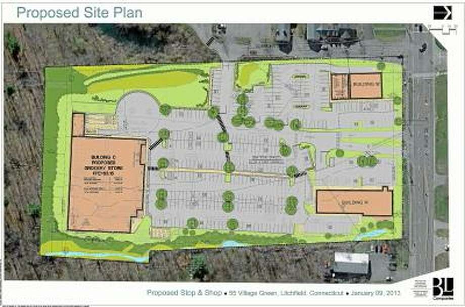 Submitted image Plans for the proposed Stop and Shop in Litchfield.