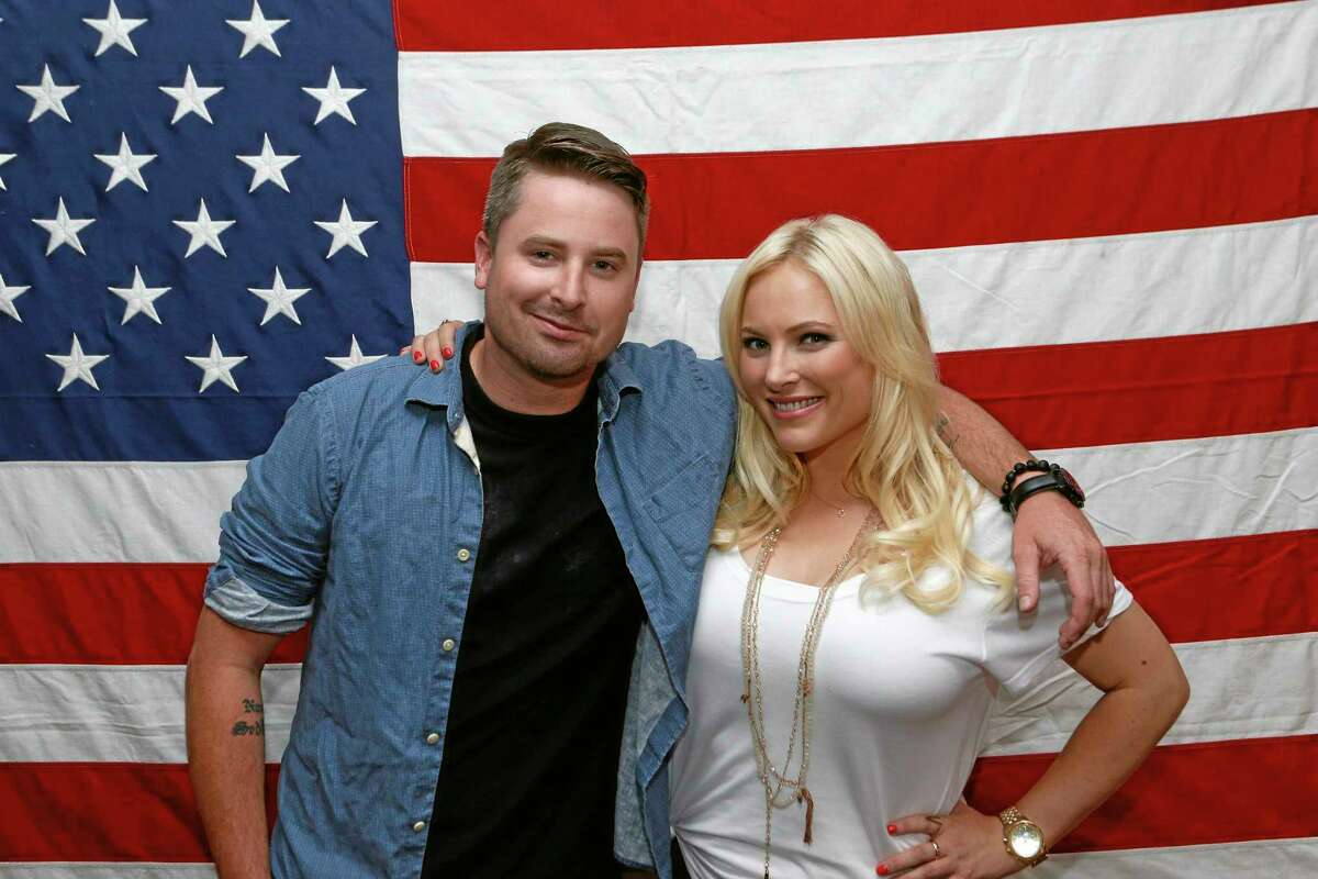 """This undated image released by Pivot shows siblings Jimmy McCain, left, and Meghan McCain from """"Raising McCain,"""" a series following Meghan McCain, daughter of Sen. John McCain, premiering in September on Pivot."""