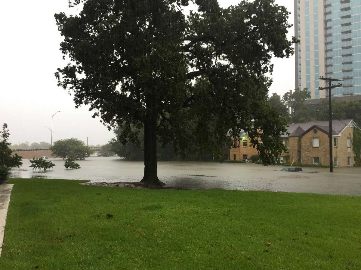As Hurricane Harvey descended on Houston, residents braved the rain to share photos of flooding, damage, and their storm setups.