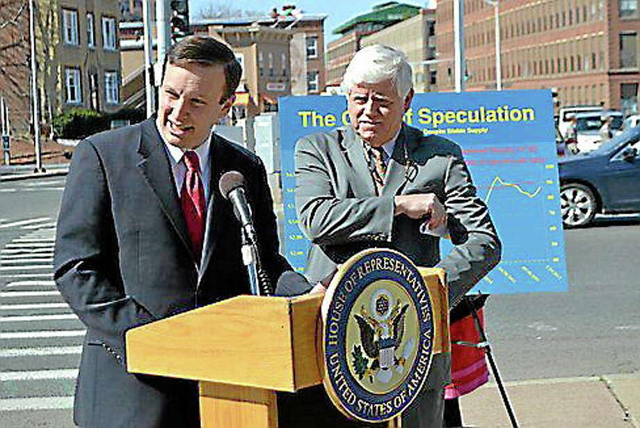 U.S. Sen. Chris Murphy and U.S. Rep. John B. Larson. (CT NewsJunkie file photo) Photo: Journal Register Co.