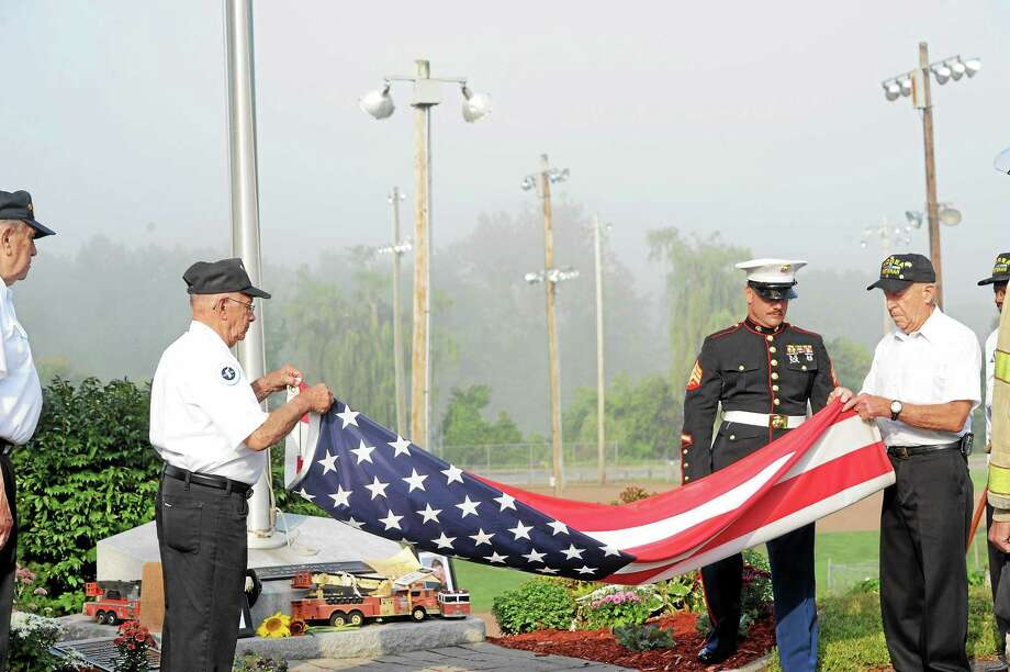 The 12th annual 9/11 memorial observance was held Wednesday in New Milford. Photo: Laurie Gaboardi—Register Citizen