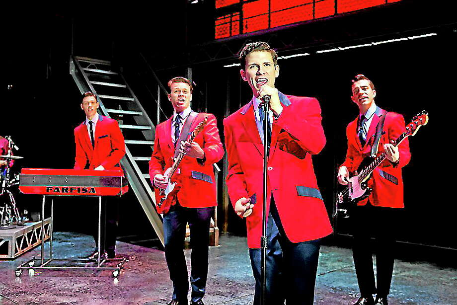 "Submitted photos - Palace Theater The cast of ""Jersey Boys"" sings ""Sherry"" in a scene from the musical. ""Jersey Boys"" is coming to the Palace Theater in Waterbury in October. Photo: Journal Register Co."