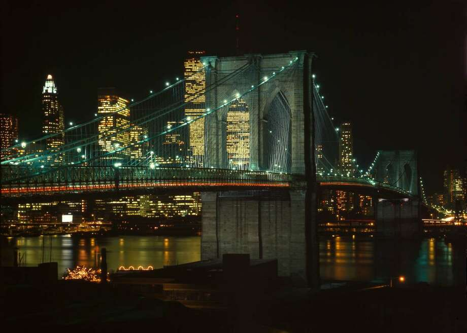 Brooklyn Bridge, Spanning East River between Brooklyn & Manhattan, New York City, New York County, NY