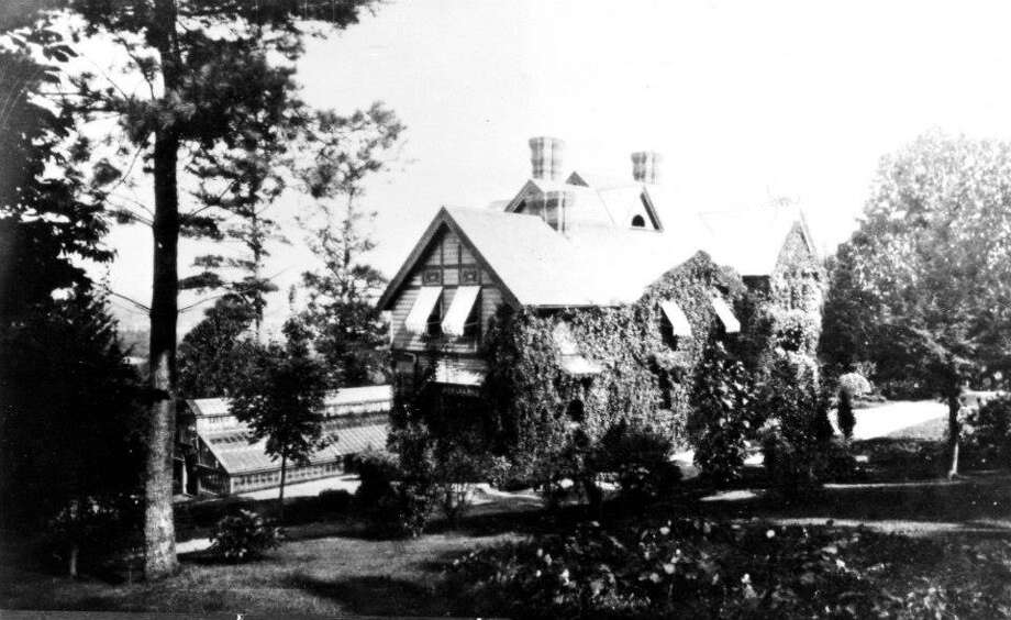 Photo taken from Genealogist Richard Pope's Facebook page. This house is called 'Minqua Park' built c. 1880 by Otto and Nellie Foley Plock.