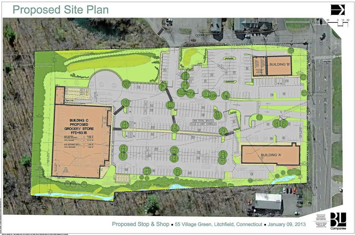 Plans for the proposed Stop and Shop in Litchfield.
