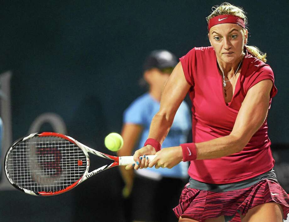 No. 2 seed Petra Kvitova defeated Barbora Zahlavova Strycova 6-4, 6-1 on Thursday afternoon to advance to the semifinals of the Connecticut Open. Photo: Melanie Stengel — Register