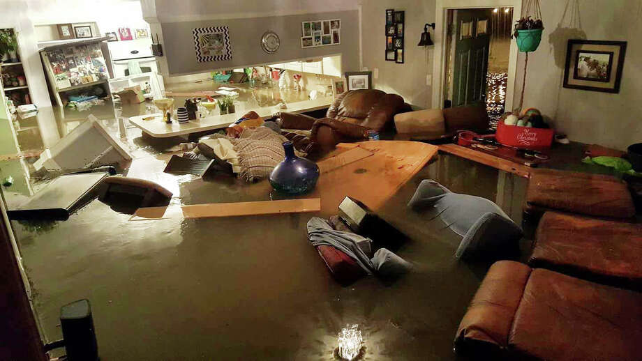 Bay Area Citizen reporter Jennifer Bolton and her husband, Luke, were forced to evacuate from their home on Sunday, Aug. 27 after water filled their Dickinson home on Saturday night. Both were rescued and are now safe with relatives. Photo: Jennifer Bolton