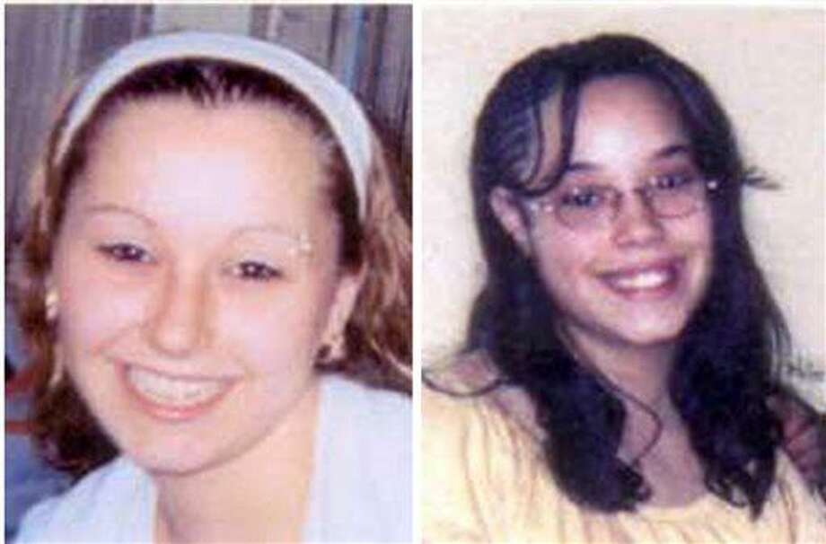 """These undated handout photos provided by the FBI show Amanda Berry, left, and Georgina """"Gina"""" Dejesus. Cleveland Police Chief Michael McGrath said he thinks Berry, DeJesus and Michelle Knight were tied up at the house and held there since they were in their teens or early 20s. Berry and the two other women who went missing a decade ago were found on Monday, May 6, 2013 elating family members and friends who'd longed to see them again. (AP Photo/FBI) Photo: AP / FBI"""