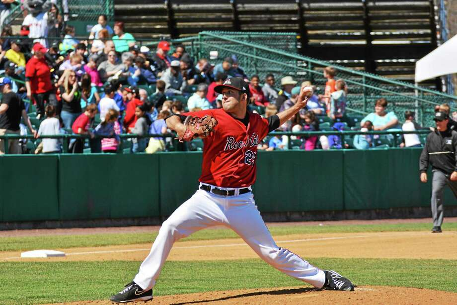 Naugatuck's Pat Dean is looking to rebound after a couple shaky starts for the New Britain Rock Cats. Photo: Photo Courtesy Of New Britain Rock Cats  / Scott Blanchette