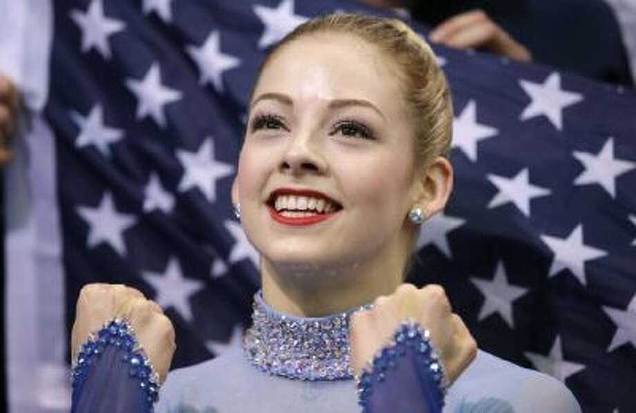 Gracie Gold of the United States reacts in the results area after competing in the women's team free skate figure skating competition at the Iceberg Skating Palace during the 2014 Winter Olympics Feb. 9 in Sochi, Russia.
