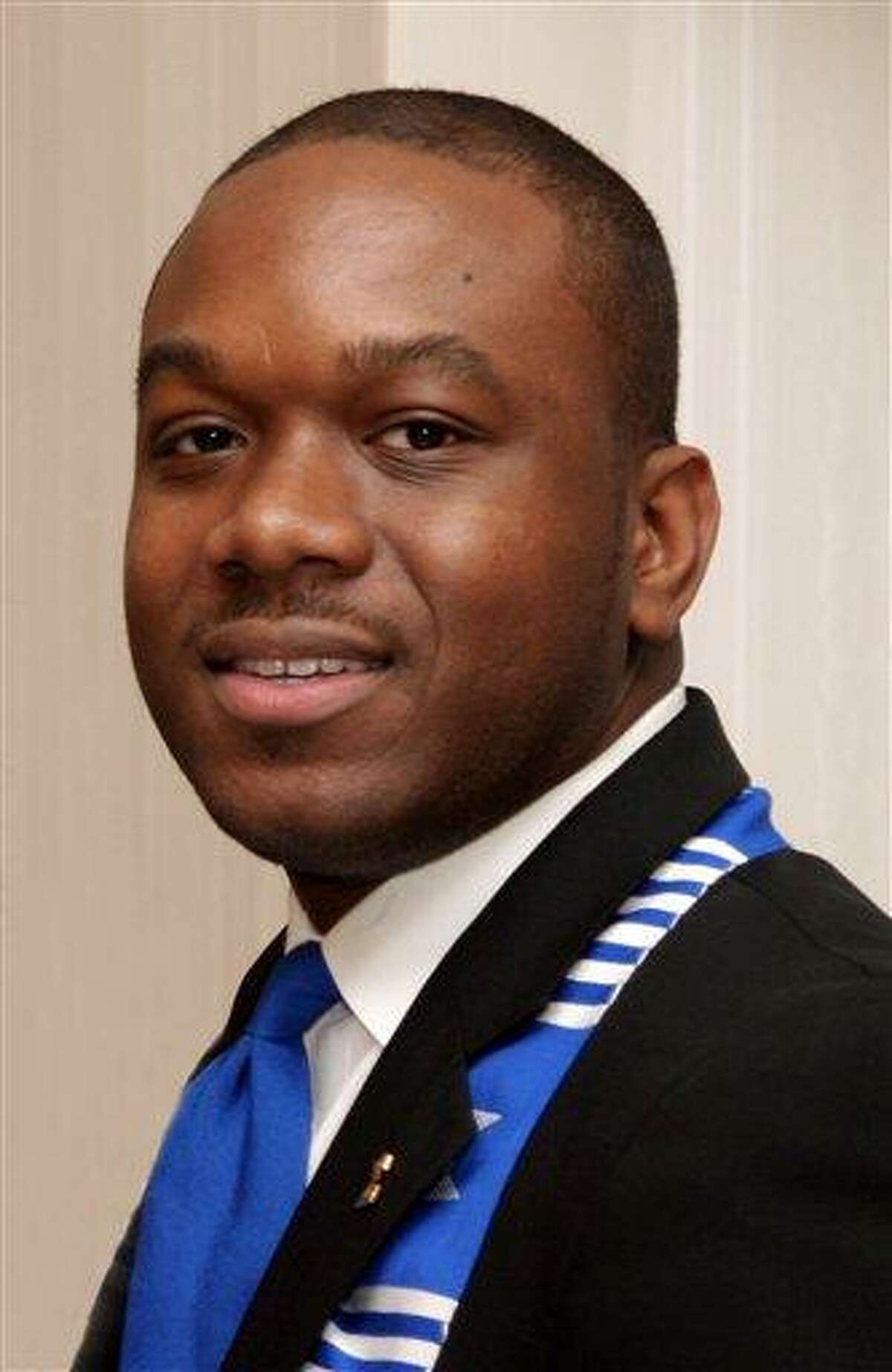 This Jan. 20, 2007 photo shows Marco McMillian, 34, a candidate for mayor of Clarksdale, Miss., who was found dead on the Mississippi River levee Wednesday, Feb. 27, 2013 between Sherard and Rena Lara, Miss. Authorities say the case is being investigated as a homicide. McMillian had served as international executive director of Phi Beta Sigma Fraternity, Inc. His campaign said he may have been the first openly gay man to be a viable candidate for public office in Mississippi. (AP Photo/The Clarksdale Press Register, Troy Catchings)