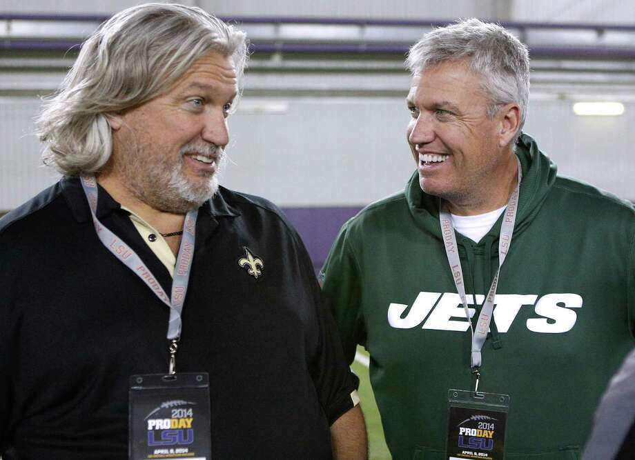 The Ryan twins are best known for their defensive acumen. After four weeks, they are looking defenseless. Rex's Jets are 1-3, have lost three in a row and can't cover anyone in the passing game. Rob's Saints, he's the defensive coordinator under coach Sean Payton, have been even worse than Rex's bunch. Photo: The Associated Press File Photo  / FR170615 AP