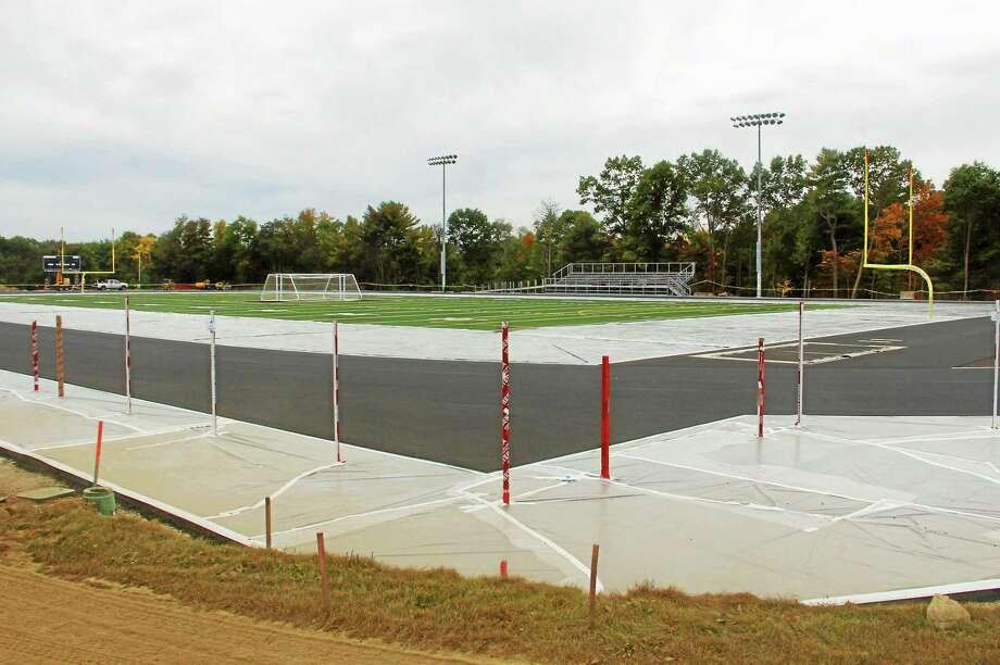 The Torrington High School athletic complex on Monday, Sept. 29, in Torrington. The $2.9 million renovation is nearing completion. Esteban L. Hernandez Register Citizen Photo: Journal Register Co.