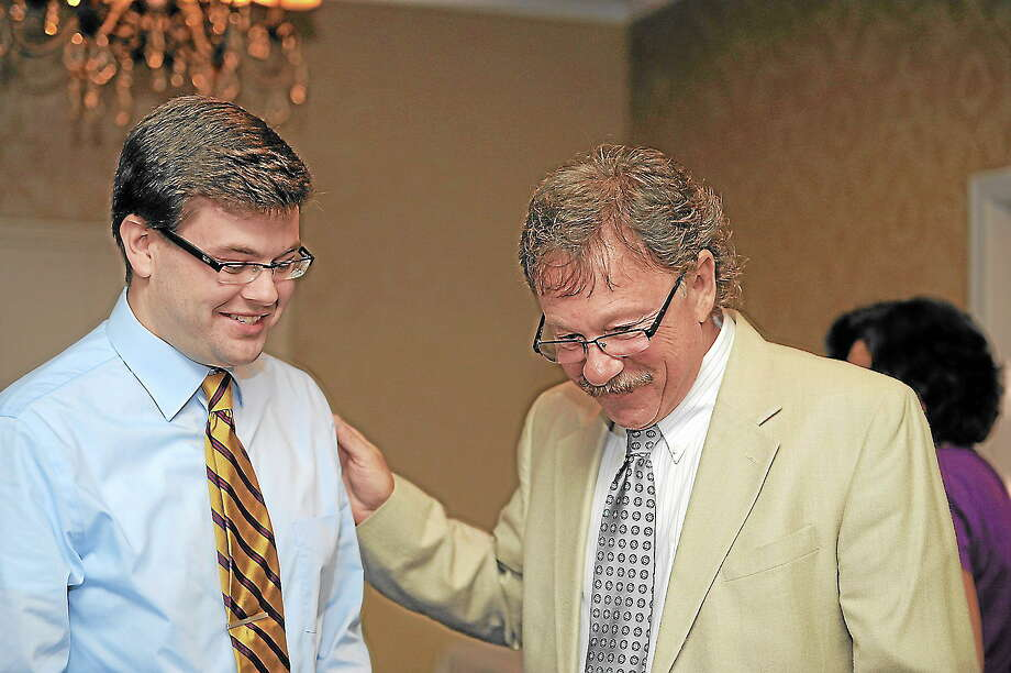 Democratic mayoral nominees Collin Good, left, and George Craig. Photo: REGISTER CITIZEN FILE PHOTO