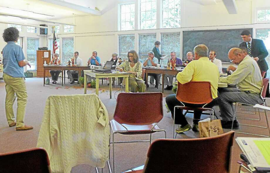 The Litchfield Hills Council of Elected Officials meets monthly at different town halls across the Northwest Corner. Photo: Ryan Flynn—Register Citizen