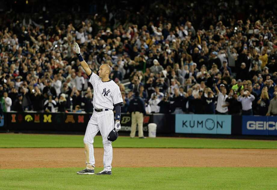 Derek Jeter's career highlight reel has more than a few signature moments, but his farewell to the Bronx on Thursday night was absolutely perfect says Register columnist Chip Malafronte. Photo: The Associated Press  / AP
