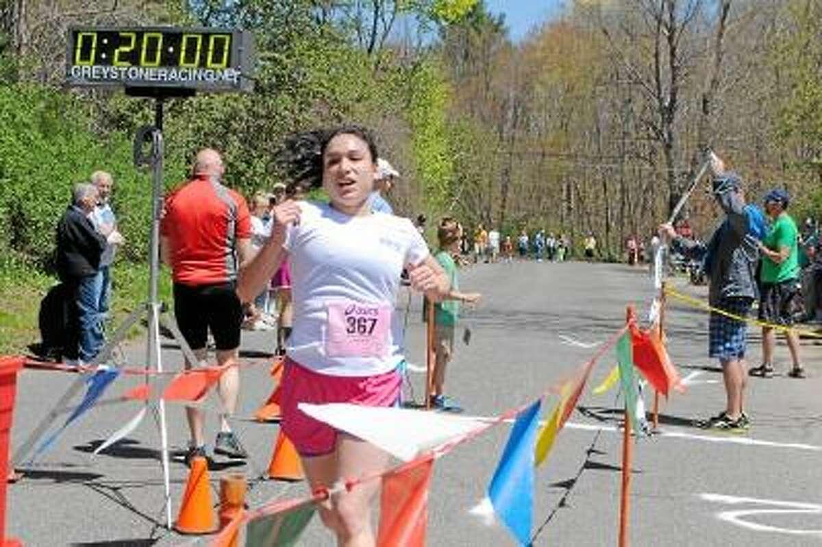 Jessica Glenza/Register Citizen -- Alison Magistrali was first to finish the