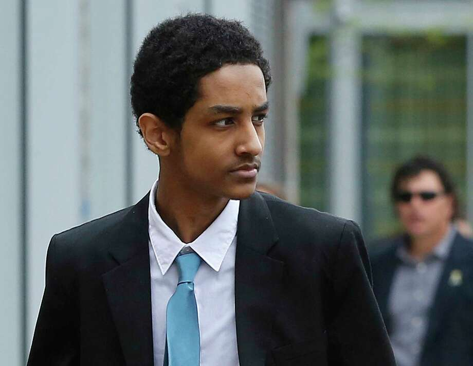 FILE - In this May 15, 2014 file photo, Robel Phillipos, a college friend of Boston Marathon bombing suspect Dzhokhar Tsarnaev, arrives at federal court before a hearing in Boston. Jury selection for his trial is set to begin on Monday, Sept. 29, 2014, in federal court in Boston. Phillipos, a U.S. citizen, is charged with lying to investigators after last year's fatal bombing. (AP Photo/Steven Senne, File) Photo: AP / AP