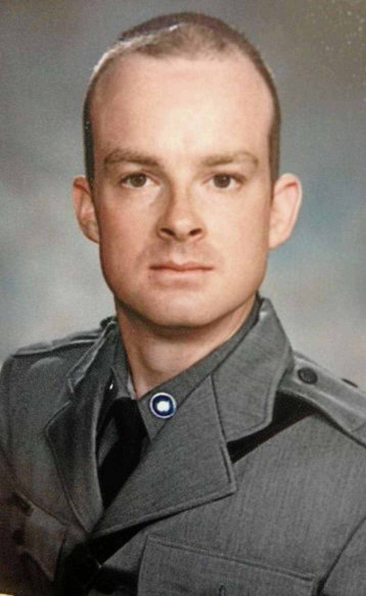 This undated photo provided by the New York State Police, shows Trooper Christopher Skinner, who was struck by a vehicle and killed, Thursday, May 29, 2014, while he was conducting a traffic stop outside his patrol car on Interstate 81 north of Binghamton, N.Y. The driver of the car that struck him was apprehended after pulling over and fleeing into near-by woods. (AP Photo/New York State Police)