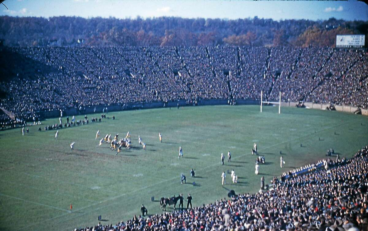 Yale Athletics Yale playing Army in 1954 at Yale Bowl.