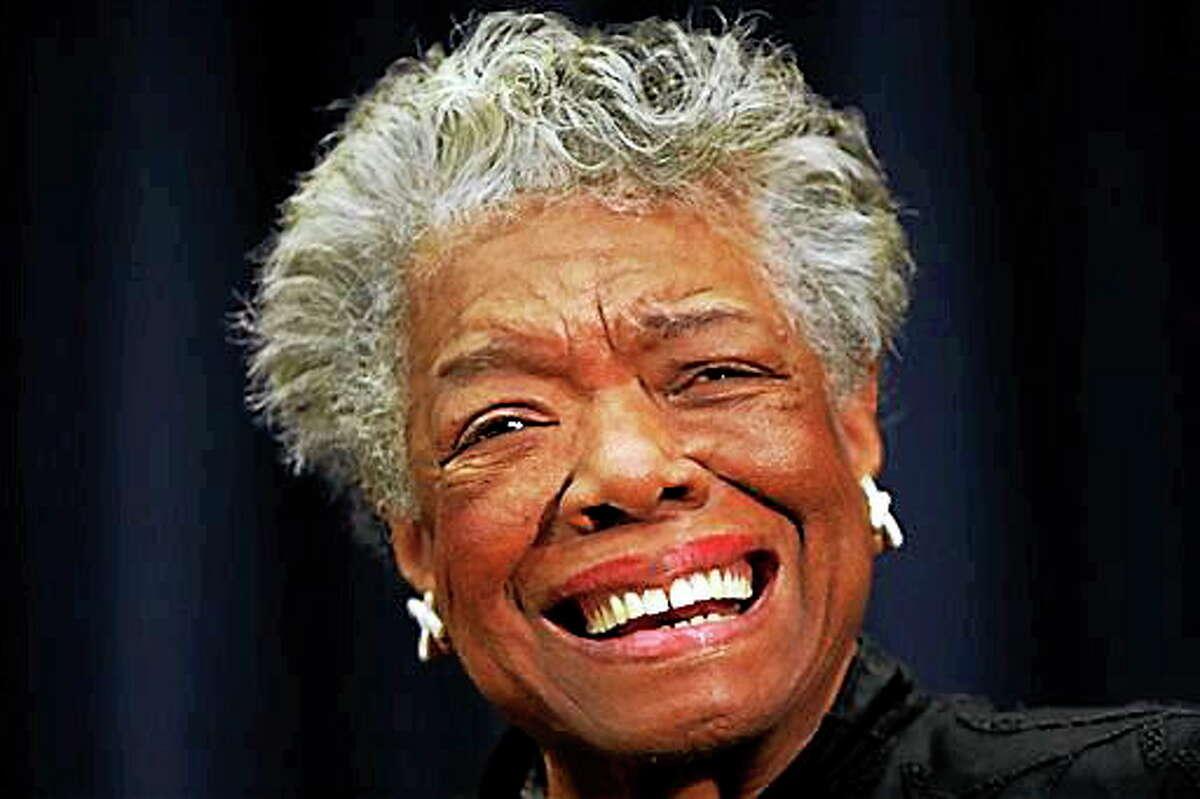 In this Nov. 21, 2008, file photo, poet Maya Angelou is shown in Washington.