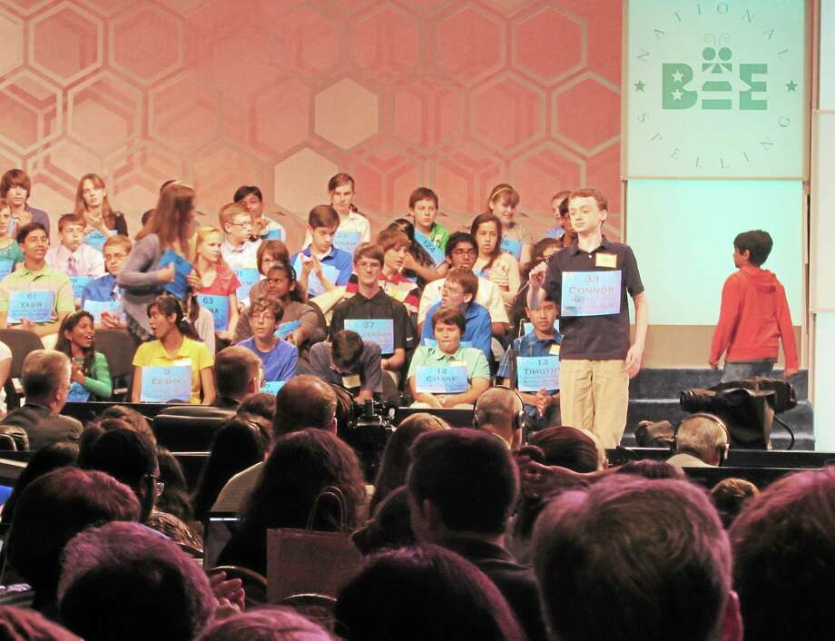 Connor Spencer, winner of the Register Citizen Spelling Bee, competes in the national bee in Washington, D.C. Photo: Submitted Photo