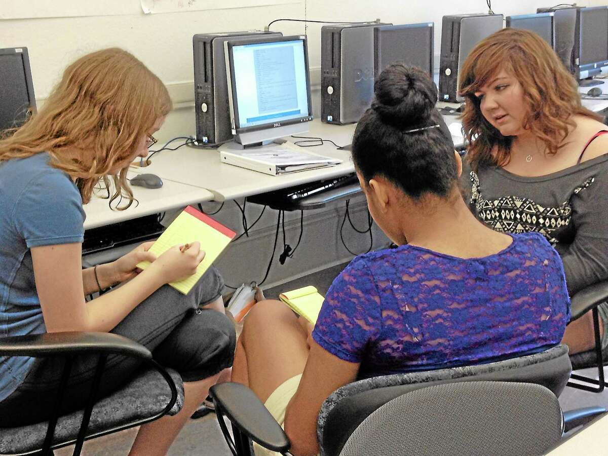 Foundations students worked on their newspaper for five weeks throughout the summer.