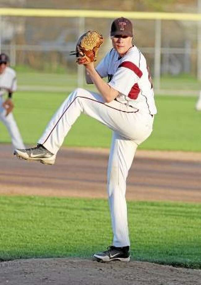 Torrington pitcher Cody Lemieux against Holy Cross Friday night. Photo by Marianne Killackey/Special to Register Citizen / 2013
