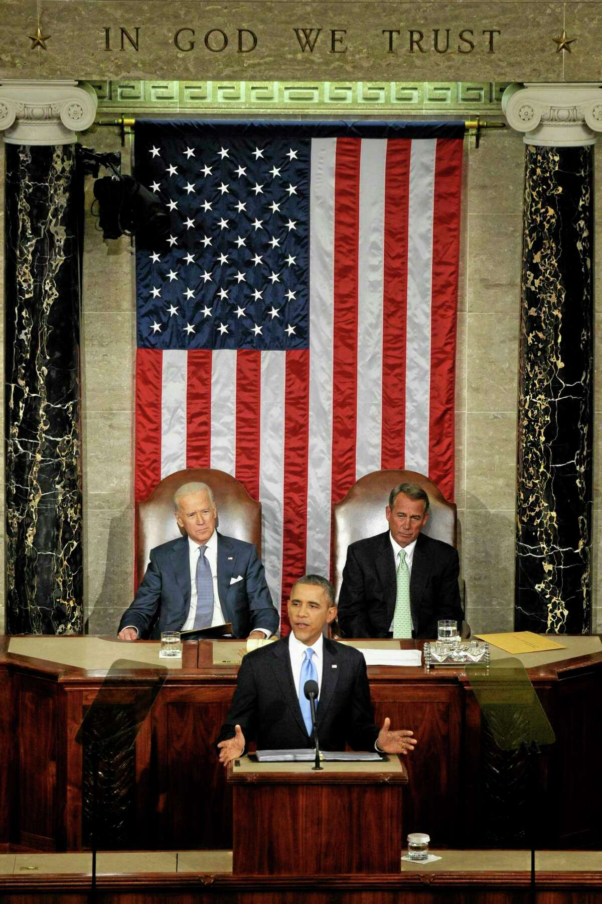 President Barack Obama delivers his State of the Union address on Capitol Hill in Washington, Tuesday Jan. 28, 2014. (AP Photo/Susan Walsh)