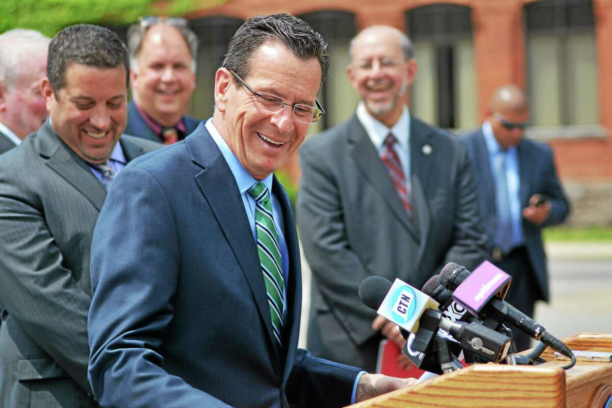 Gov. Dannel Malloy speaks at a press conference in Torrington to discuss plans for the long-awaited courthouse on Field Street.