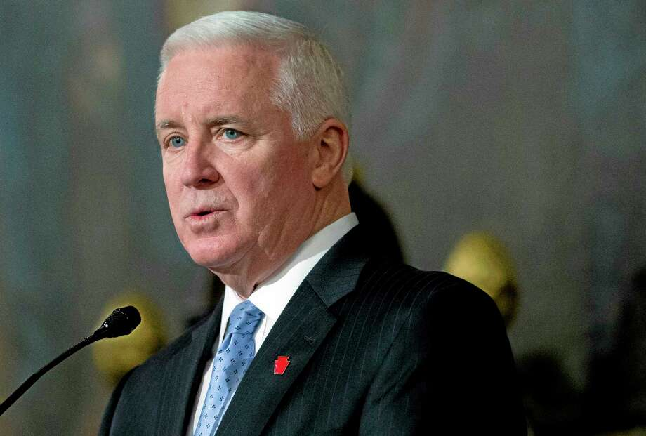FILE - In this Feb. 4, 2014 file photo, Republican Pennsylvania Gov. Tom Corbett  speaks in Harrisburg, Pa. With a decision pending, Corbett is now willing to wait to gain federal government approval for his bid to receive Medicaid expansion money if it preserves his hotly disputed plan to tie work-related criteria to eligibility. Analysts think a television campaign ad in late April by Democratic gubernatorial challenger Allyson Schwartz that criticizes Corbett's Medicaid stance may end up playing a factor. (AP Photo/Matt Rourke, File) Photo: AP / AP