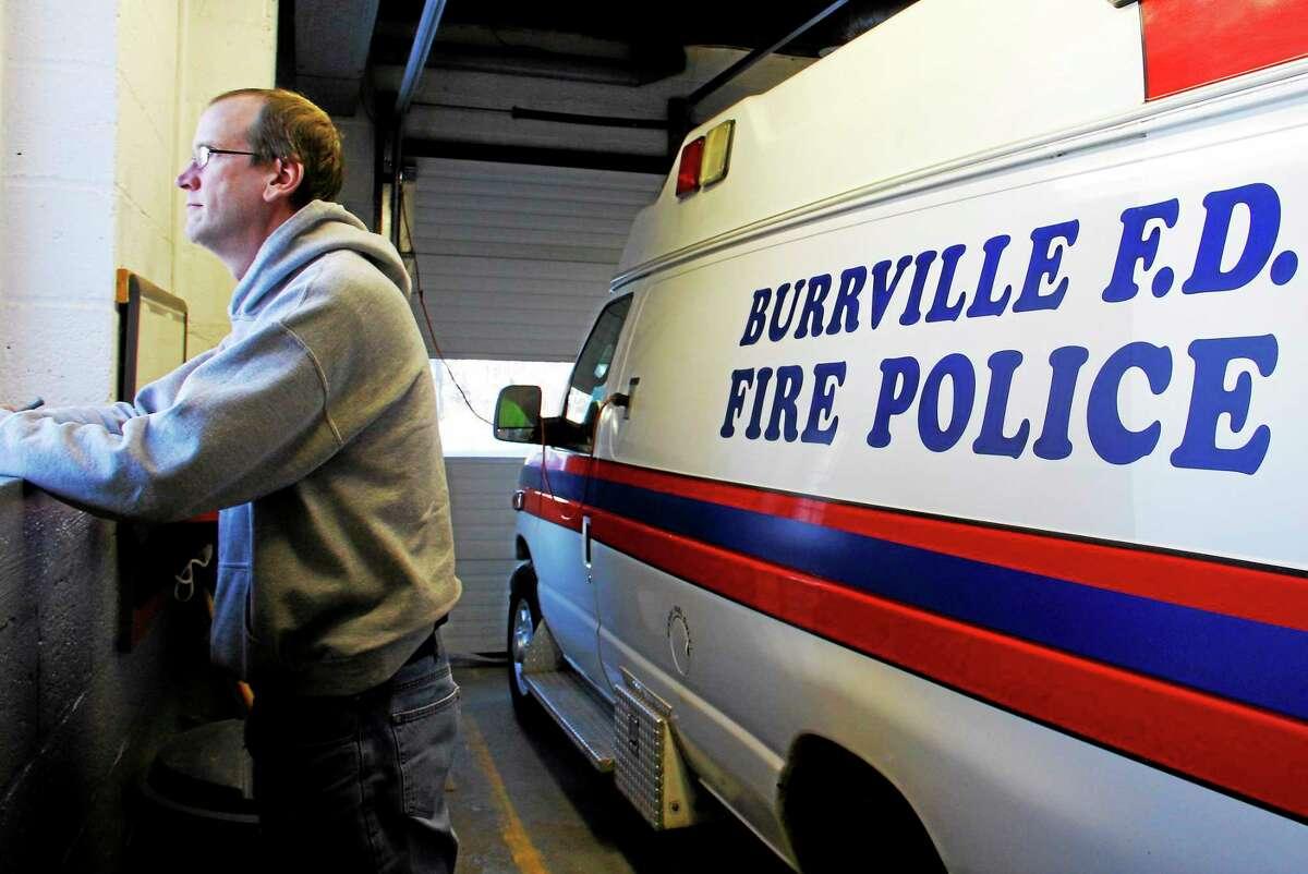 Burrville Volunteer Fire Department Chief Jason Noad stands inside his fire station on Feb. 6 in Torrington. Esteban L. Hernandez — The Register Citizen