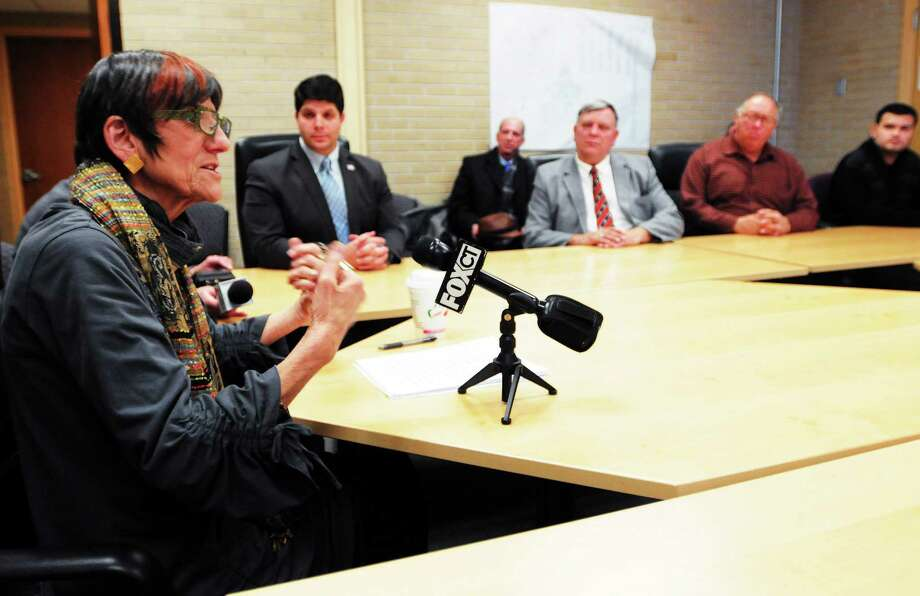 (Peter Hvizdak — New Haven Register) U.S. Rep. Rosa DeLauro has a conversation with constituents at Middletown City Hall in this December file photo. Photo: New Haven Register / ©Peter Hvizdak /  New Haven Register