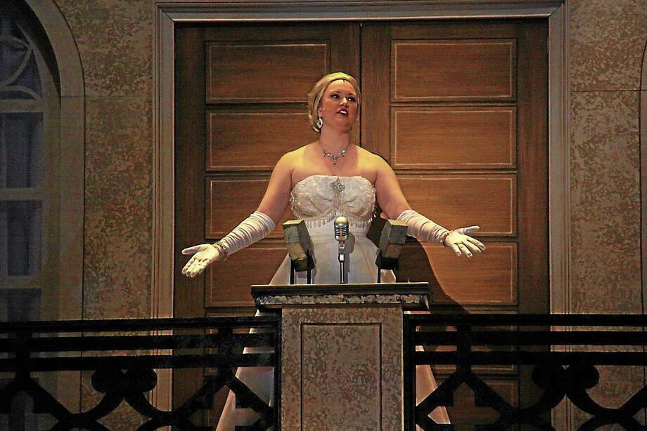 Submitted photo courtesy of The Warner Theatre  Andrew Lloyd Webber and Tim Riceís ìEvitaî charts the rags-to-riches rise of the First Lady of Argentina, Eva Peron, played by Arianne DeCerb. Photo: Journal Register Co.