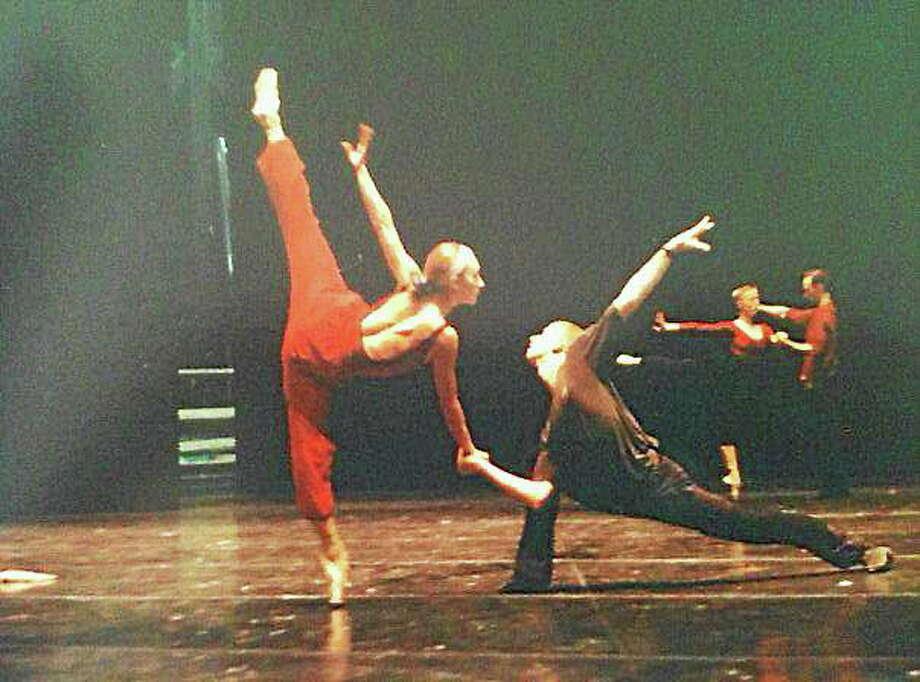 Submitted photo - Nutmeg Ballet Victoria Mazzarelli and Brian Reeder rehearse William Forsytheís ìSingerlandî at Frankfurt Ballet. Photo: Journal Register Co.