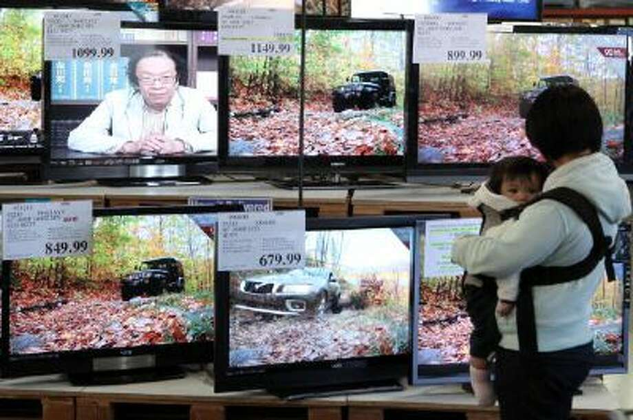 A display of LCD HDTV televisions in San Francisco, California Photo: Getty Images / 2009 Getty Images