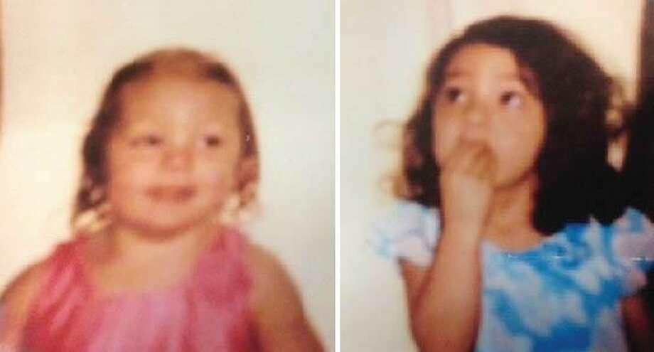 Savannah Sturz, 3, left, and Ariana Sturz, 5, of Torrington.