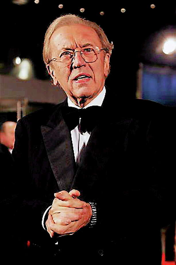 In an Oct. 15, 2008 file photo, British broadcaster David Frost, arrives at the world premiere of Frost/Nixon, and the opening of the London Film Festival, in central London.  Veteran British broadcaster David Frost died of a heart attack on Saturda. AP Photo/Joel Ryan Photo: AP / AP