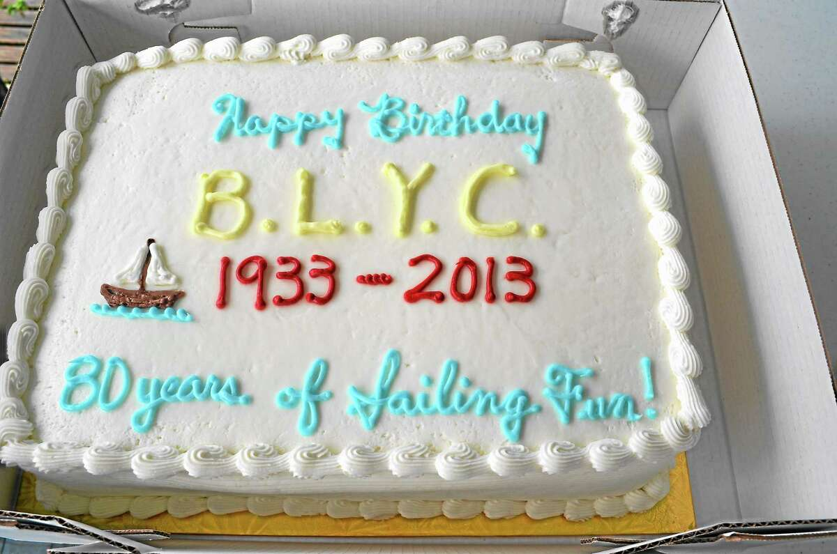 Bantam Lake Yacht Club members celebrated the 80th anniversary of the club with a cake, and other festivities, on Sunday.
