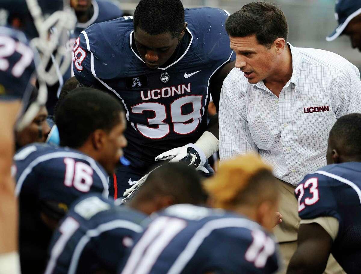 Head coach Bob Diaco and UConn hopes the season turns around against Temple again this year.